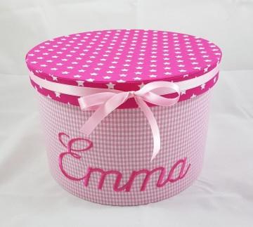Erinnerungsbox mit ihrem Wunschnamen personalisiert, mit Stoff bezogen (Kopie id: 44225)