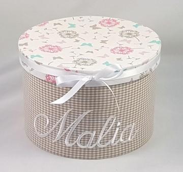 Erinnerungsbox mit ihrem Wunschnamen personalisiert, mit Stoff bezogen (Kopie id: 44226) (Kopie id: 44234)