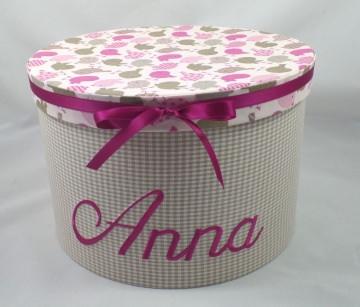 Erinnerungsbox mit ihrem Wunschnamen personalisiert, mit Stoff bezogen (Kopie id: 44225) (Kopie id: 44242)