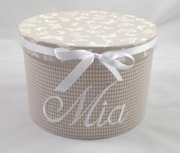 Erinnerungsbox mit ihrem Wunschnamen personalisiert, mit Stoff bezogen (Kopie id: 44225) (Kopie id: 44242) (Kopie id: 44244)