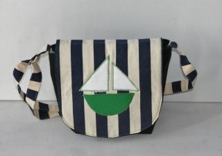 Handgenähte Umhängetasche für kleine Segler Kindergartentasche Schiff Palunduahoi  Maritim Urlaub am Meer