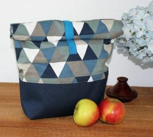 Lunchbag  Brotbeutel Jeanstasche blau zero waste Kosmetiktasche Geschenk Ostern  - Handarbeit kaufen