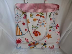 Einkaufstasche  / Einkaufsbeutel genäht und gefüttert statt Plastiktüte ☆ von patchwerk ☆