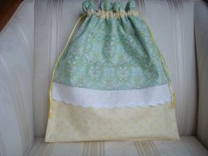 Wäschesäckchen - Wäschebeutel gelb/grün gemustert ☆ von patchwerk ☆