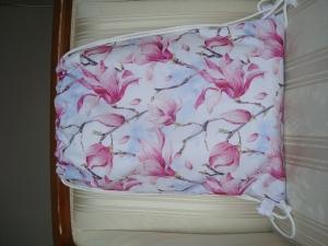 Rucksack - Turnbeutel  - Sportbeutel - Festivalbag - Blüten -  genäht aus wasserfestem Stoff ☆ von patchwerk ☆ - Handarbeit kaufen