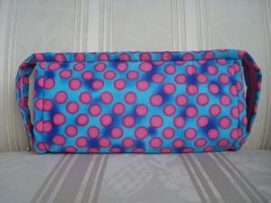 Handarbeitstasche - Projekttasche - Kosmetiktasche - Stiftemäppchen - Taschenorganizer - mit vielen Fächern - blau-pink  ☆ von Patchwerk ☆ - Handarbeit kaufen
