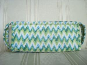Handarbeitstasche - Kosmetiktasche - Stiftemäppchen - Taschenorganizer - mit vielen Fächern  -weiß-grün-blauk  ☆ von Patchwerk ☆