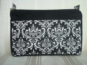 Taschenorganizer genäht in schwarz - weiß  ☆ von patchwerk ☆