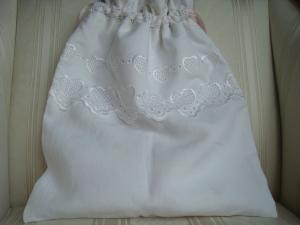 Wäschesäckchen  - Wäschebeutel - weiß mit Bordürenstoff - genäht - ☆ von Patchwerk ☆