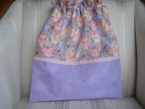 Wäschesäckchen  - Wäschebeutel - lila - Blumenmotiv - genäht - ☆ von Patchwerk ☆