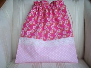 Wäschesäckchen  - Wäschebeutel - pink - rosa- Röschen - genäht - ☆ von Patchwerk ☆