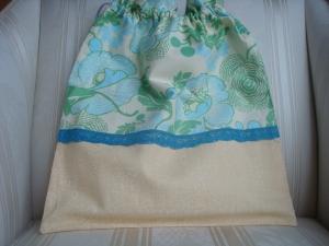 Wäschesäckchen  - Wäschebeutel - hellgelb- grün - hellblau - genäht - ☆ von Patchwerk ☆