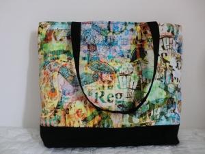 Shopper - Schultertasche - Einkaufstasche -  Shopping Bag -  bunt - genäht von Patchwerk - Handarbeit kaufen