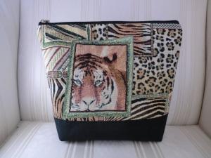 Kulturtasche - Kulturbeutel - Waschtasche -  Waschbeutel -  Kosmetiktasche - Projekttasche - auf Safari - genäht von Patchwerk - Handarbeit kaufen