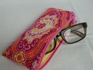 Brillenetui -  Brillentäschchen - Lesebrille - Ersatzbrille - Zweitbrille - Sonnenbrille -  Reißverschluss - genäht von Patchwerk - Handarbeit kaufen