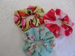 Scrunchies - Haargummi - Set von 3 Stück - aus Baumwollstoffen - genäht von Patchwerk