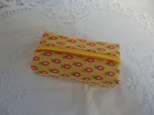 TATÜTA - gelb gemustert - aus Baumwollstoff - von Patchwerk - Handarbeit kaufen