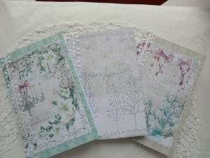 3 Notizhefte mit weihnachtlichem Deckblatt - von Patchwerk - Handarbeit kaufen