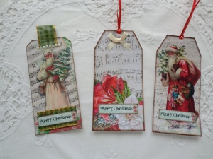 Geschenkanhänger - Weihnachtsmotiv - von Patchwerk - Handarbeit kaufen