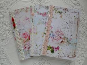 3 Notizhefte mit verschiedenen floralen Deckblättern  - von Patchwerk - Handarbeit kaufen