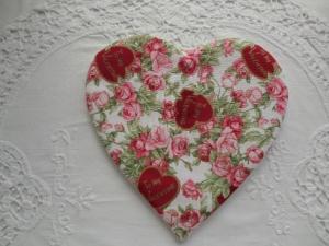 herzförmiger Untersetzer mit - to my Valentine - Schriftzug - genäht von patchwerk - Handarbeit kaufen