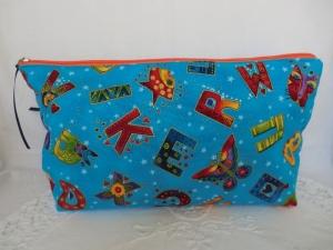 Windeltasche - Wickeltasche - bunte Buchstaben - genäht von Patchwerk - Handarbeit kaufen