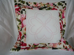 Kissenhülle - Kissenbezug - dekoratives Quiltmuster - genäht von patchwerk - Handarbeit kaufen