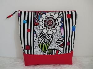 Handarbeitstasche  -  Projekttasche - Wollkorb - Strickkorb - in Größe L - genäht von Patchwerk   - Handarbeit kaufen
