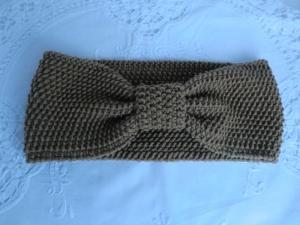 Stirnband - aus Wolle gestrickt - hellbraun - von Patchwerk - Handarbeit kaufen