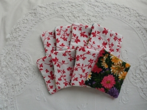 8 Kosmetikpads - Abschminkpads - zero waste - Baumwolle / Frottee - genäht von Patchwerk