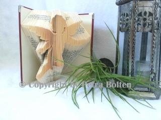 Gefaltetes Buch mit ★ ENGEL ★ Motiv