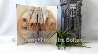Gefaltetes Buch mit ♥individuellem Namen♥ als Geschenk