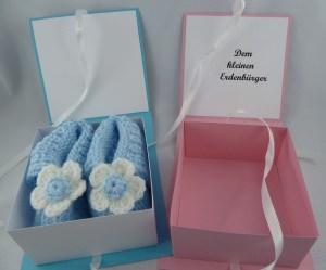 Geschenkebox Babyschuhe