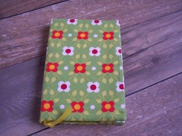 Kalender - Notizbuchhülle Blumen grün + Geschenk