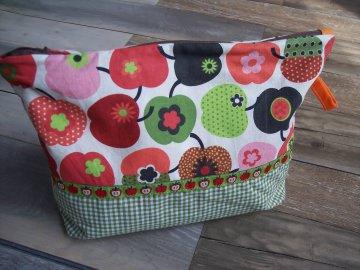 Kulturbeutel Kulturtasche Kosmetiktasche - mit Äpfel