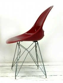 Stuhl aus Fiberglas von Miroslav Navrátil für Vertex, 1950er
