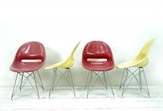 Stuhl aus Fiberglas von Miroslav Navrátil für Vertex, 1950er  - 4er Set