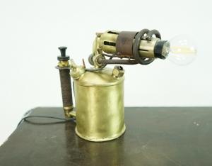 Schreibtischlampe - antike Lötlampe von Max Sievert Stockholm