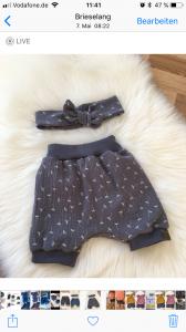 Bloomer/Shorts aus Musselin Handgefertigt  (Kopie id: 36930)