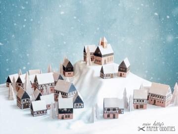 Adventskalender »Erzgebirgisches Winterdorf« (Bastelset) - Handarbeit kaufen