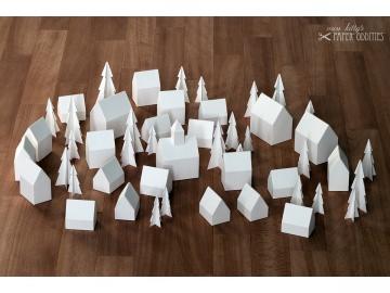 Adventskalender »Winterdorf« (Bastelset) - Handarbeit kaufen