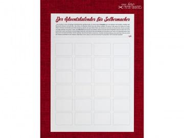 DIY-Adventskalender zum individuellen Gestalten — 01.rechteckige Fenster  - Handarbeit kaufen