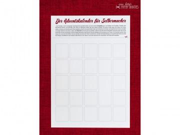 DIY-Adventskalender zum individuellen Gestalten — 02.rechteckige Fenster