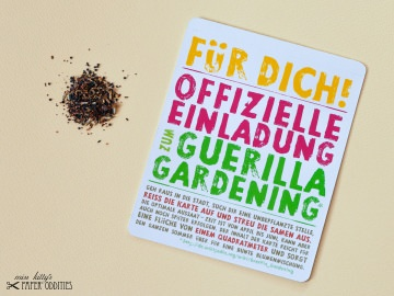 Postkarte »Guerila Gardening«, gefüllt mit Wildblumensamen