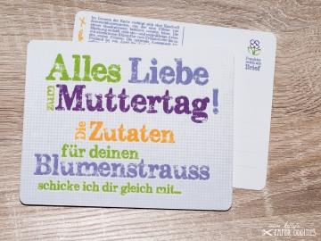 Muttertags-Postkarte, gefüllt mit Sommerblumensamen