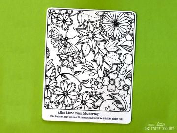 Muttertags-Postkarte zum Ausmalen, gefüllt mit Sommerblumensamen