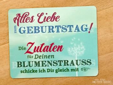 Geburtstags-Postkarte, gefüllt mit Sommerblumensamen