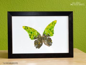 DIY-Wachs-Bügelbild »Schmetterling No. 1« - Handarbeit kaufen