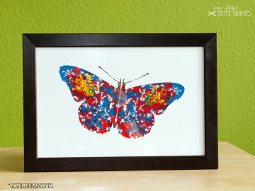 DIY-Wachs-Bügelbild »Schmetterling No. 2« - Handarbeit kaufen