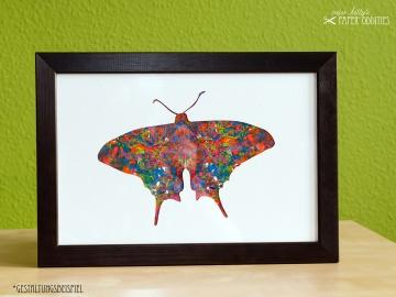 DIY-Wachs-Bügelbild »Schmetterling No. 3« - Handarbeit kaufen